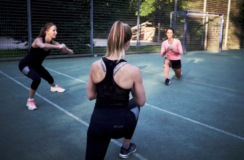 Sport mit Kompressionsbekleidung