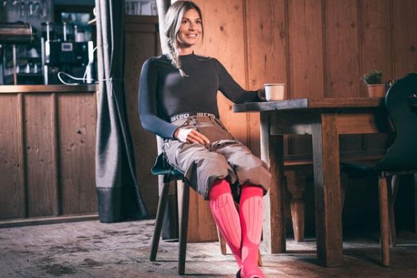 Frische Beine in Skisocken