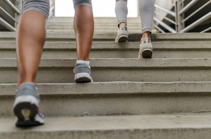 Treppensteigen - mehr Bewegung im Alltag