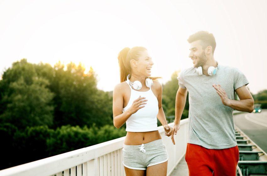 Laufen mit dem Partner