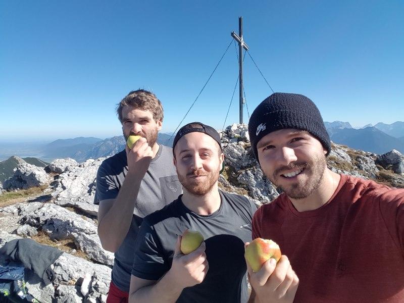 Das sind wir: Gipfelapfelmomente
