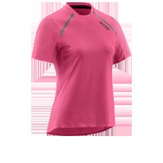 run shirt short sleeve women rose