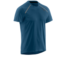 run shirt short sleeve men dunkel blau