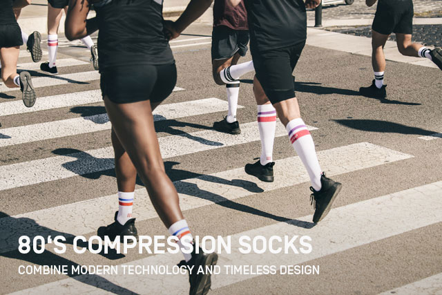 Discover modern technology and timeless design - combined in the Vintage 80's Socks