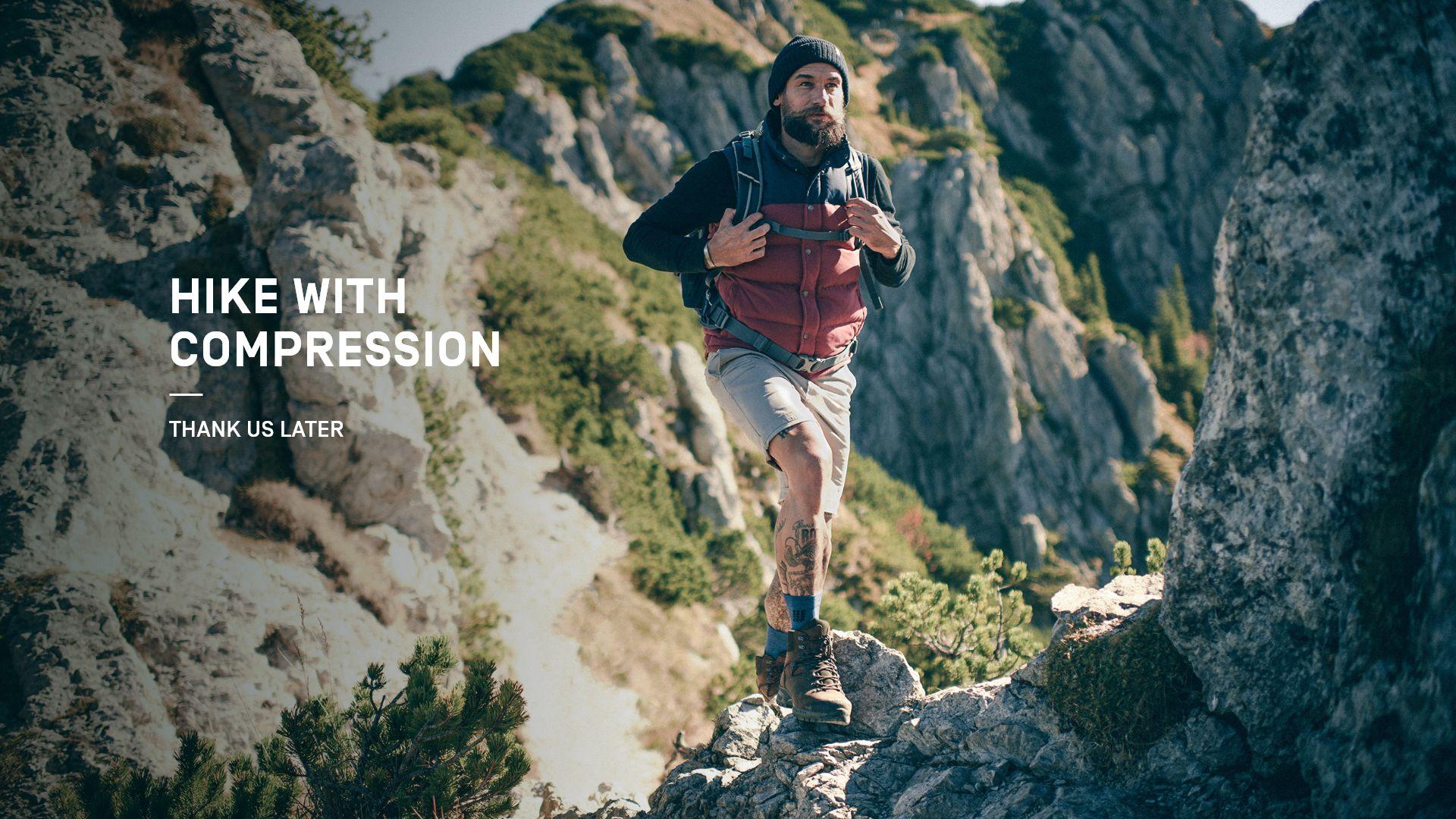 Wandern mit Kompression
