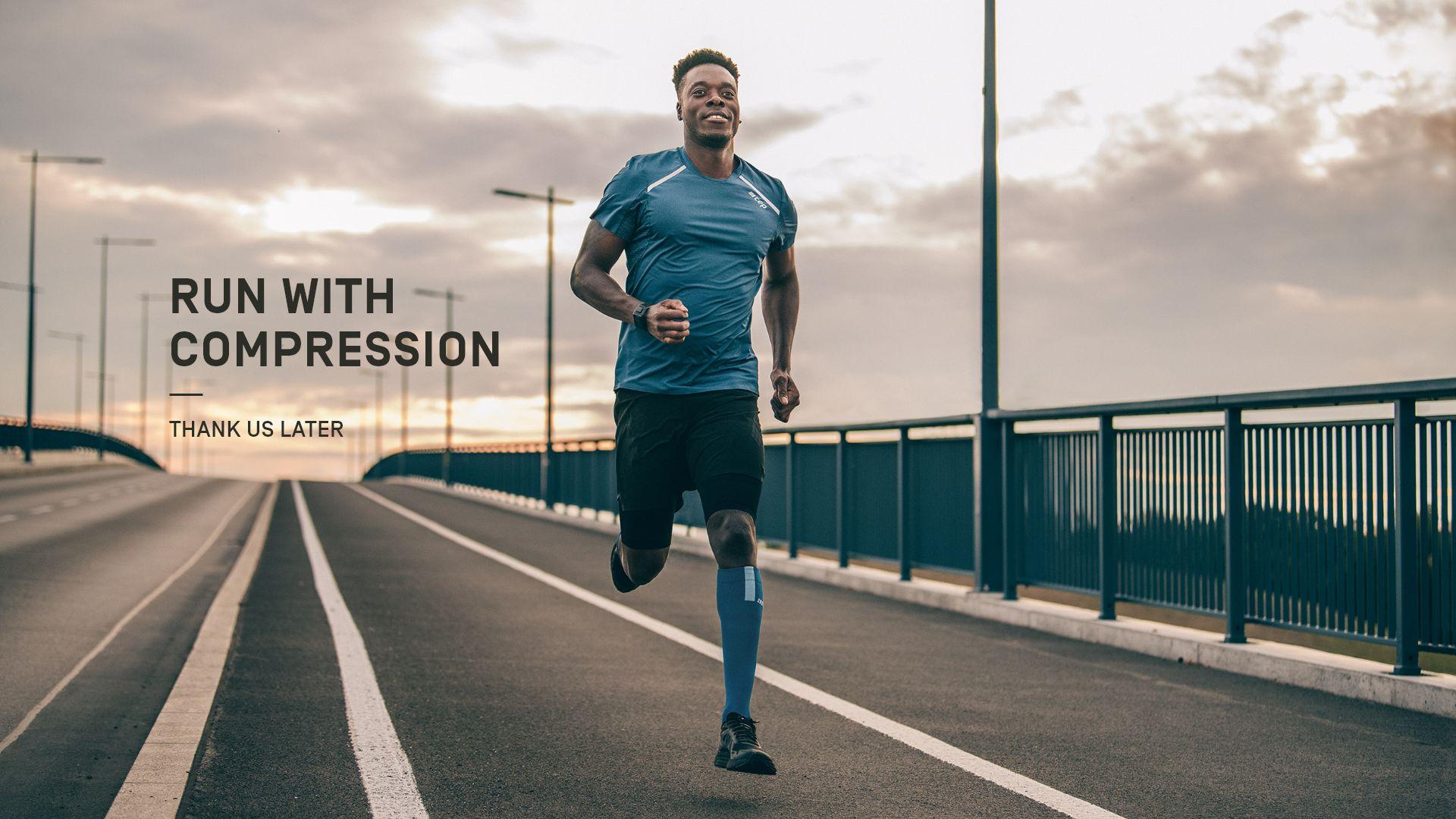 Laufen mit Kompression